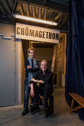 Photo du comédien Philippe Pillavoine et de Mario Gonzalez metteur en scène